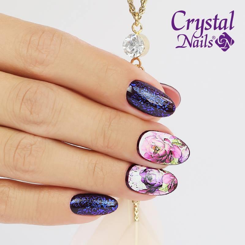 Stempel Mix Mit Wasser Sticker Crystal Nails Austria Nageldesign