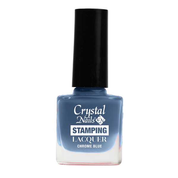 stempel lack chrome blau 4ml crystal nails austria. Black Bedroom Furniture Sets. Home Design Ideas